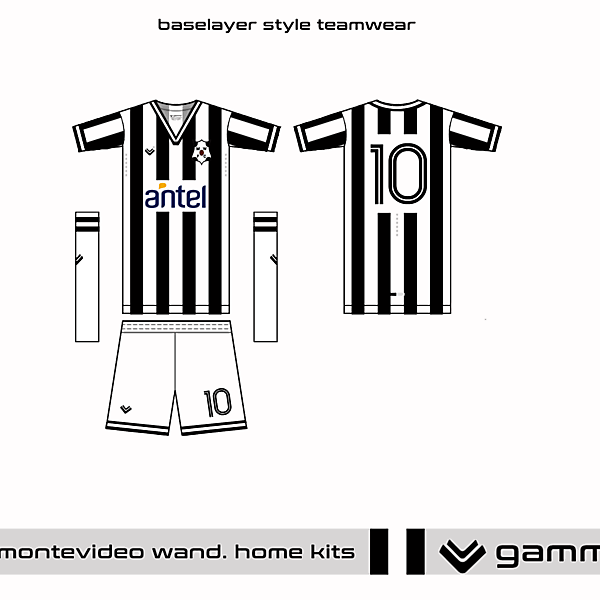 montevideo wanderers home kit