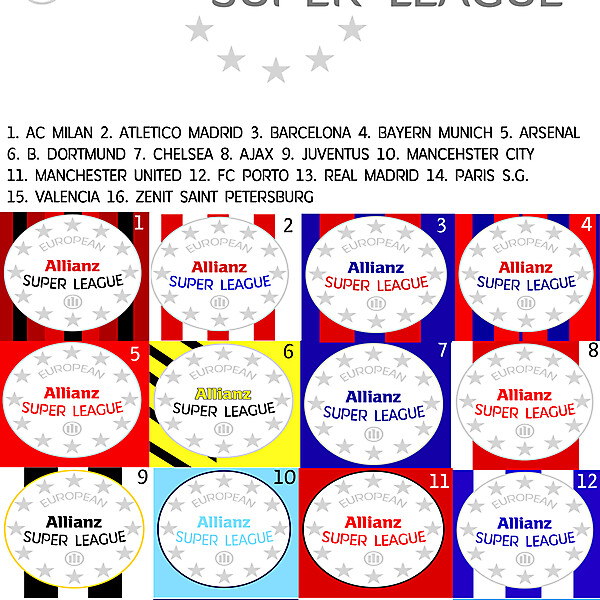 European Super League badges