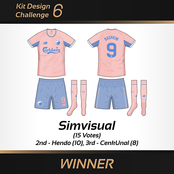 WINNER - Kit Design Challenge 6 - 2016 Pantone Colour of the Year