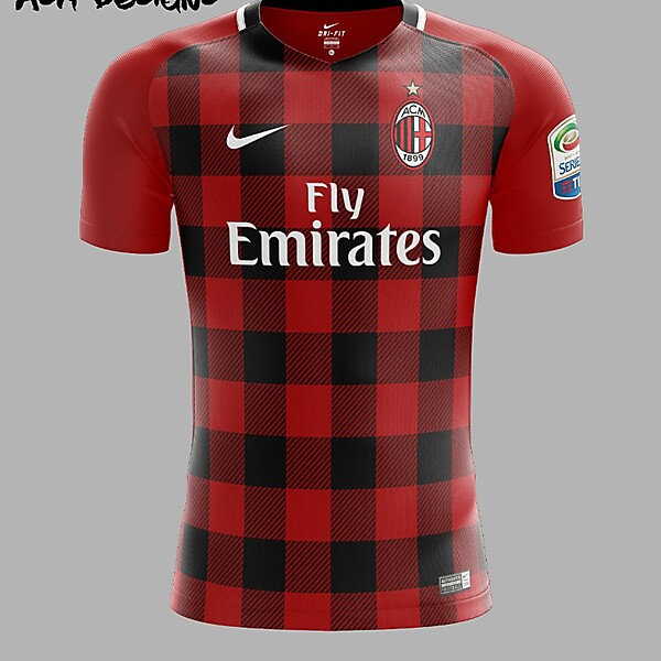 AC Milan Nike 2018 Home Kit