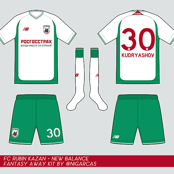 FC Rubin Kazan -Away Kit
