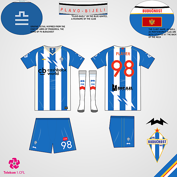 FK Buducnost Home Kit - KOTW 55