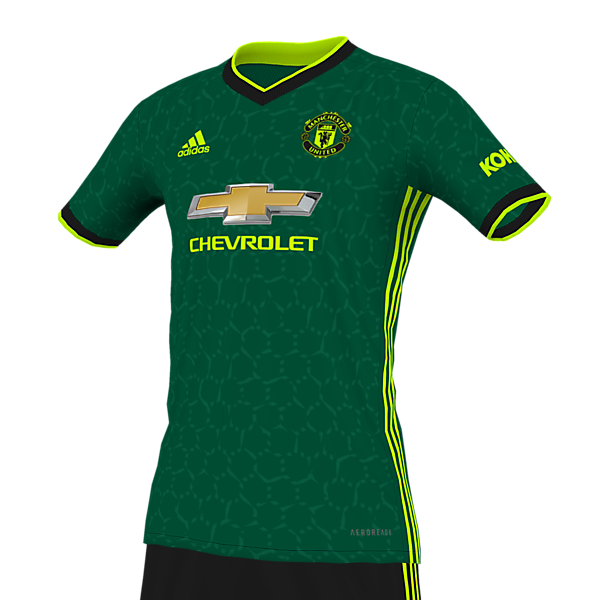 Manchester United Forest Green/Black/Volt Kit