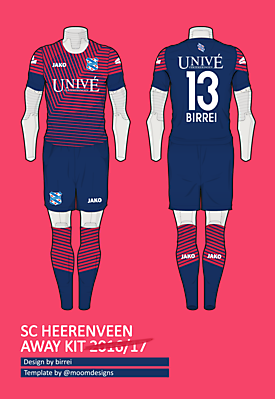 SC Heerenveen Away Kit by me, el Birrei