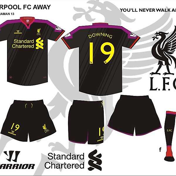 Liverpool FC third or away kit