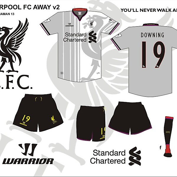 Liverpool FC third or away kit v2