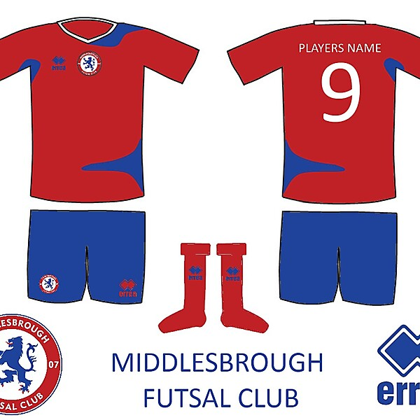 Middlesbrough Futsal Kit