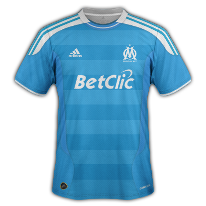 Marseille kits with Adidas designs