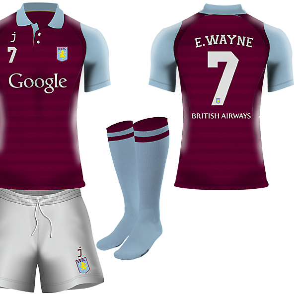 Dudley Villa home kit by J-sports