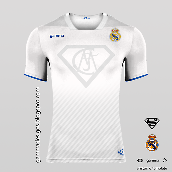 superman+real madrid home kit