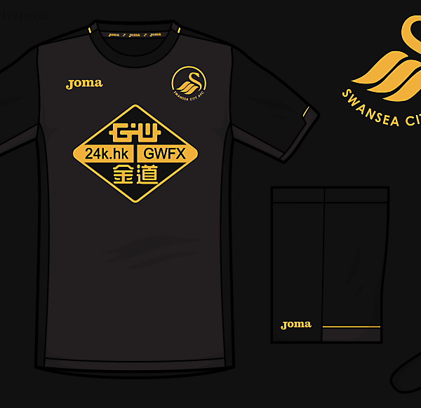 Swansea Joma Away Kit