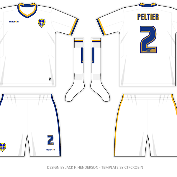 Leeds United home shirt - based on the 1960 version