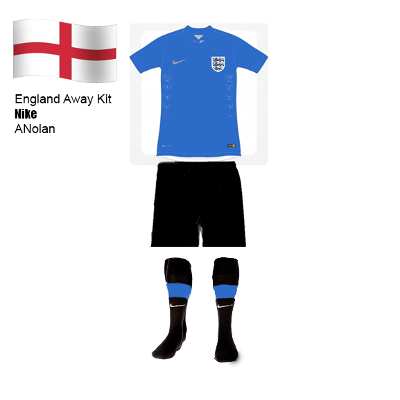 England Blue and Black Away/ Third Kit