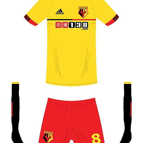 Watford adidas home kit
