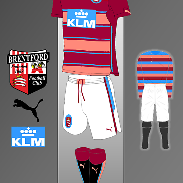 Brentford Puma kit Inspired by 1889-1897 Home Kit