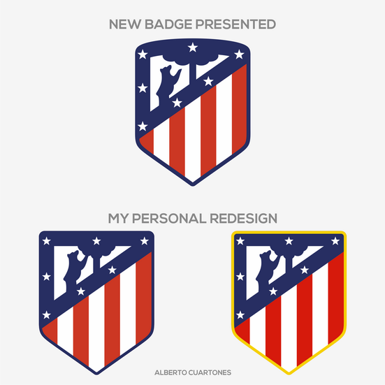 Atlético de Madrid Badge Redesign