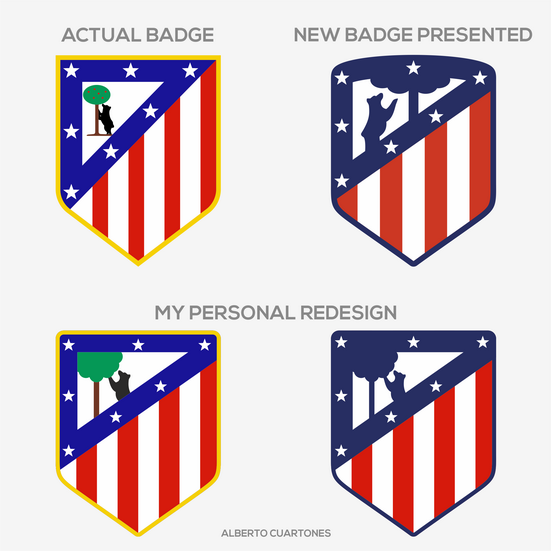 Atlético de Madrid Badge Redesign v.2
