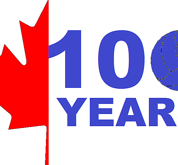 Canadian Soccer Association 100 Years  Logo
