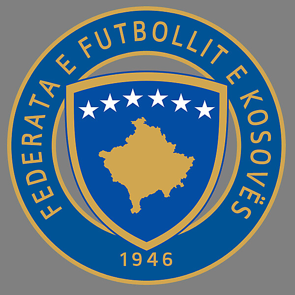 Kosovo Football Federation - Logo 1st Redesign