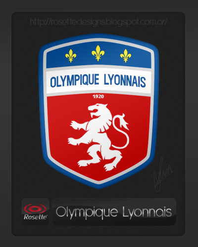 Re-designed logo of Olympique Lyonnais