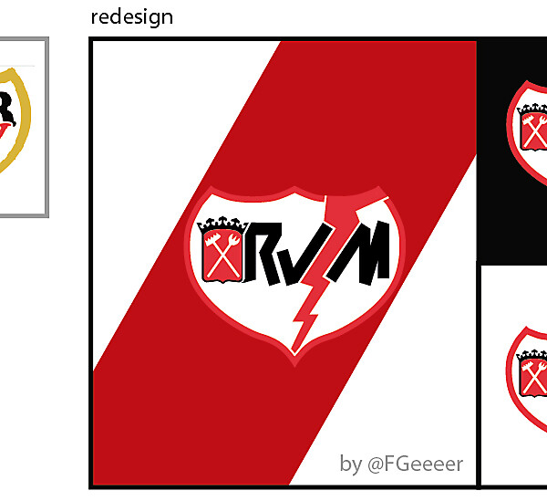 Rayo Vallecano de Madrid Crest Redisign