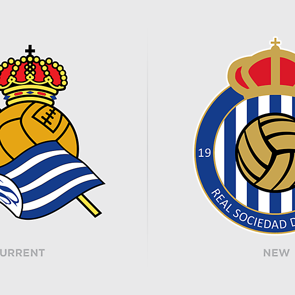 Real Sociedad Logo Redesign