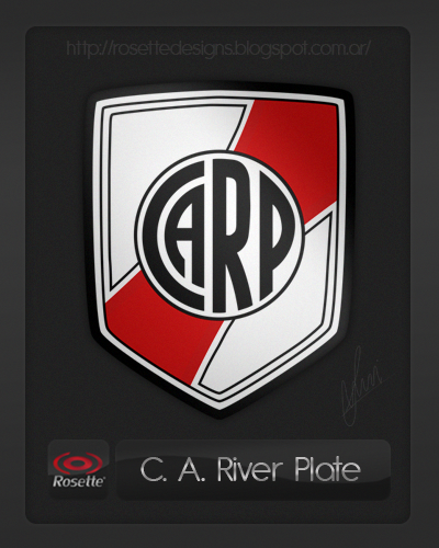 Re-designed logo of River Plate