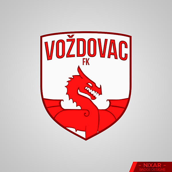 Voždovac FK Badge Redesign by Nixar