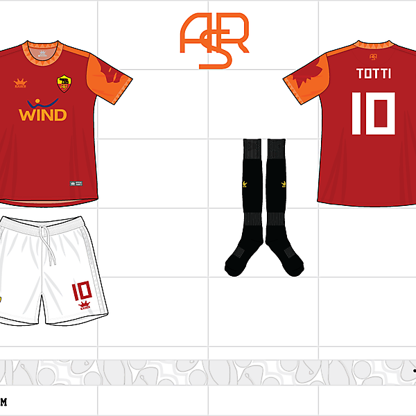 2012-13 as roma home kit