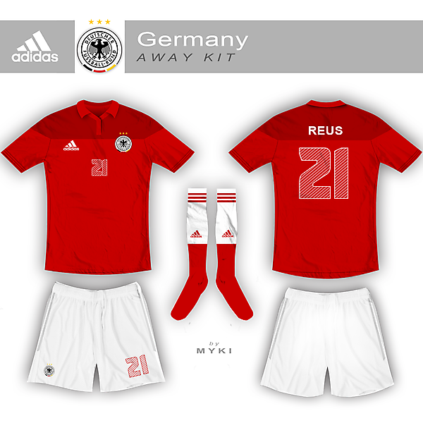 Germany Nation Team Away Kit