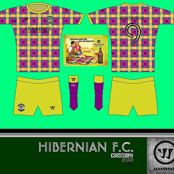 Hibs Crabbie\'s Picnic Rug Away Kit