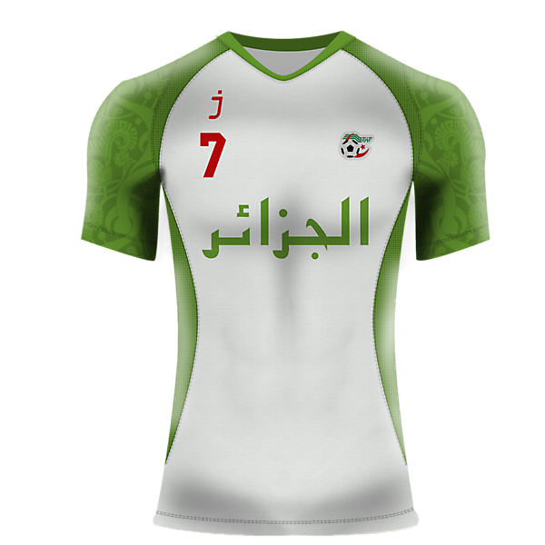 Algeria home jersey by J-sports