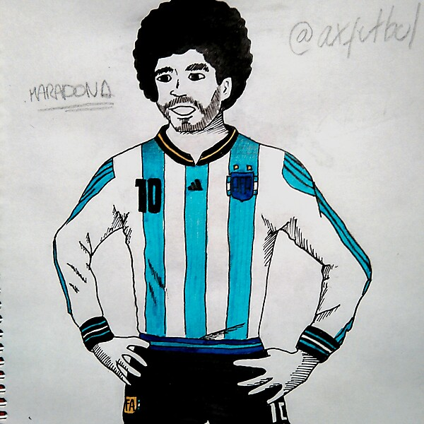 Argentina Football Team Home Kit (Maradona model)