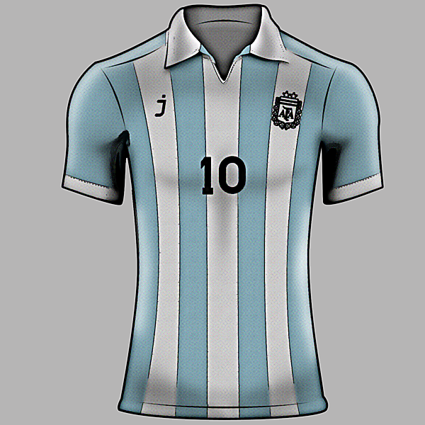Argentina home jersey - retro style by J-sports