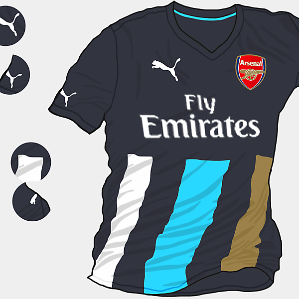 Arsenal 2015-2016 Third Shirt (Based on Leaks)