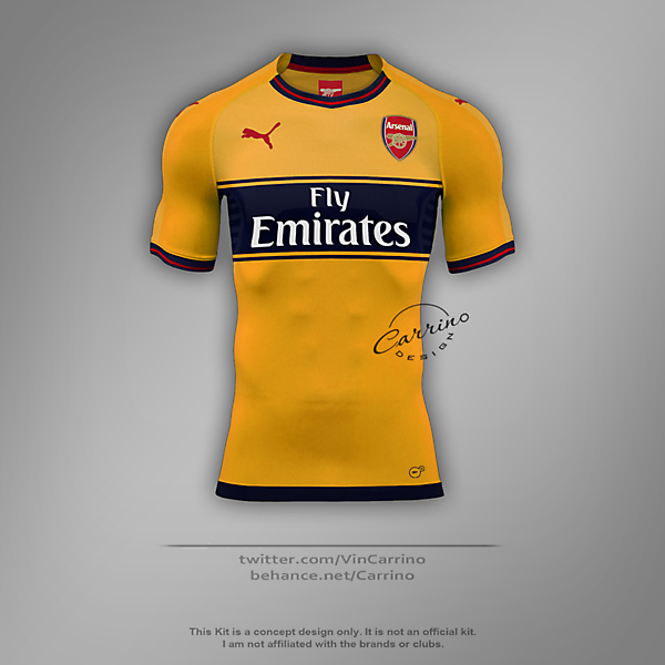 Arsenal FC Away Jersey | Concept Design