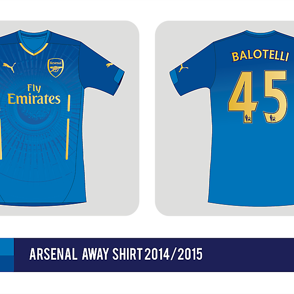 Arsenal FC away shirt 2014 / 2015