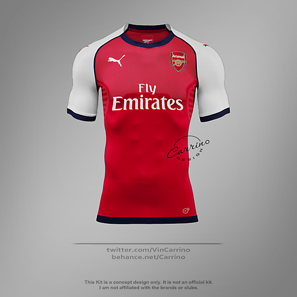 Arsenal FC Home Jersey | Concept Design