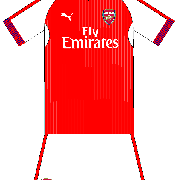Arsenal Home Kit Experiment 2016-17