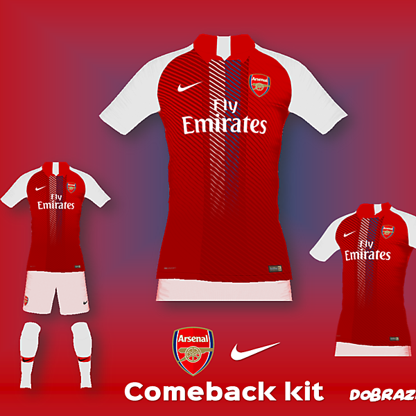 Arsenal x Nike Comeback Home Kit