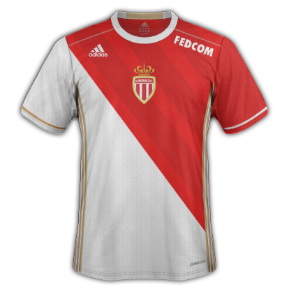AS Monaco Home shirt with Adidas