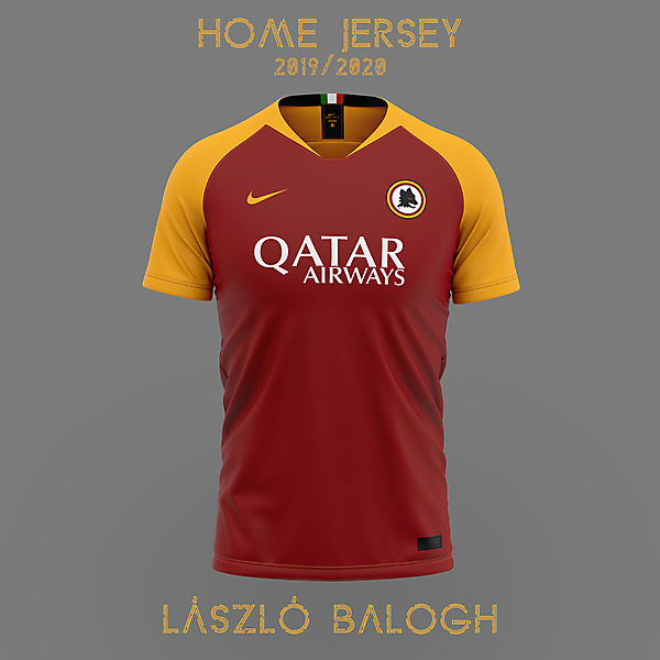 AS Roma 2019/2020 Home Jersey Concept
