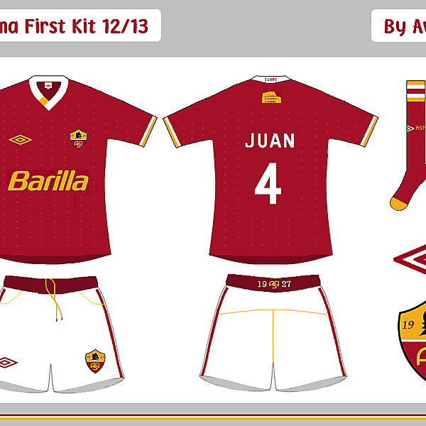 AS Roma First & Change Kits