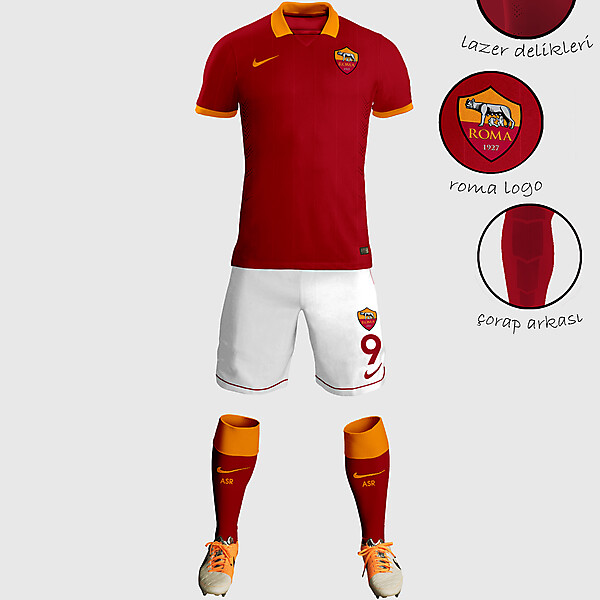 AS Roma Home Kit Design