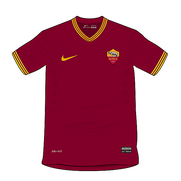 AS Roma Nike concept - Home shirt
