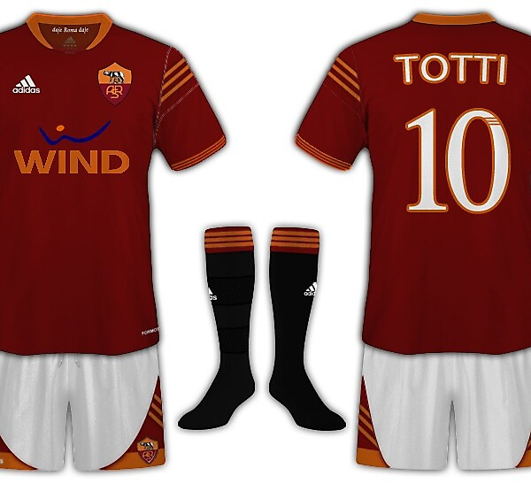 AS Roma Home Kit by Adidas