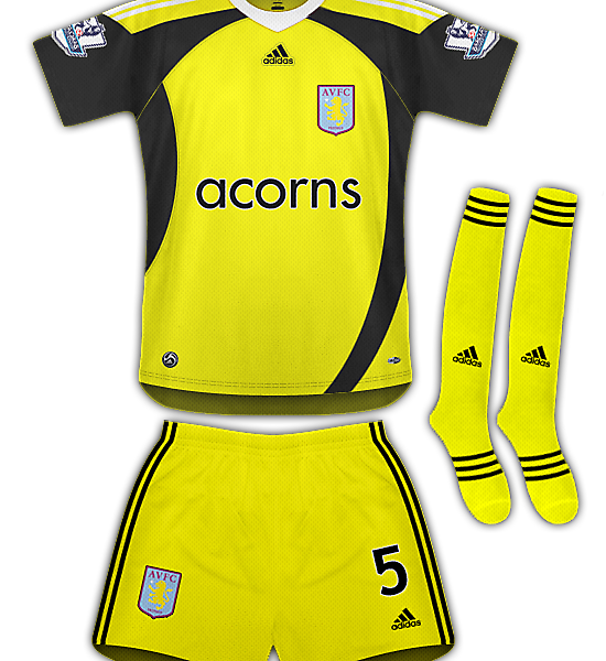 Aston Villa Away Kit 09/10