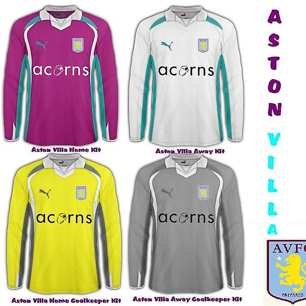Aston Villa Puma Kit Collection