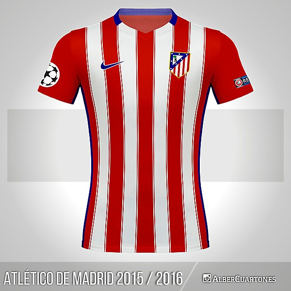 Atlético de Madrid 2015 / 2016 Home Shirt (according to leaks)