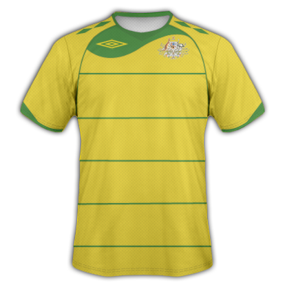 Australia Home 2010 Umbro World Cup Shirt